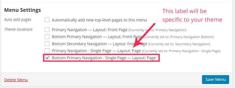 Choose your navigation menu location