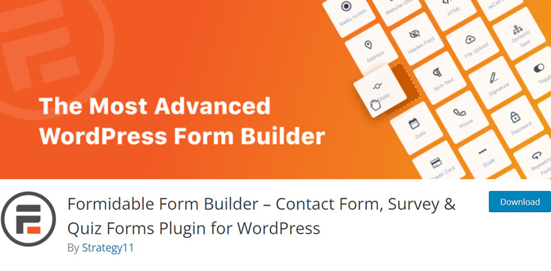The Formidable Forms plugin in the WordPress directory