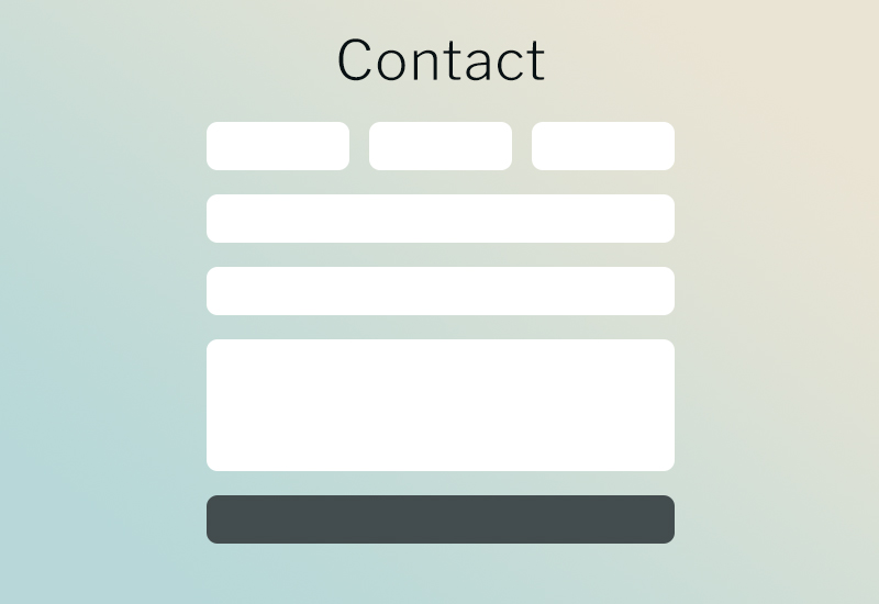 Example of a WordPress contact form
