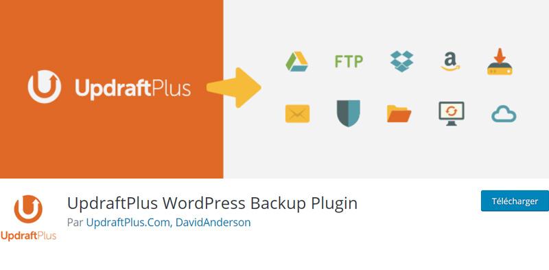 UpdraftPlus automatise les sauvegardes de votre site