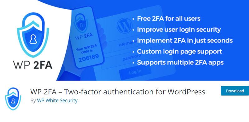 WP 2FA plugin's page in the WordPress catalog