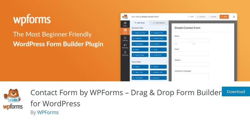 The WPForms plugin in the WordPress directory