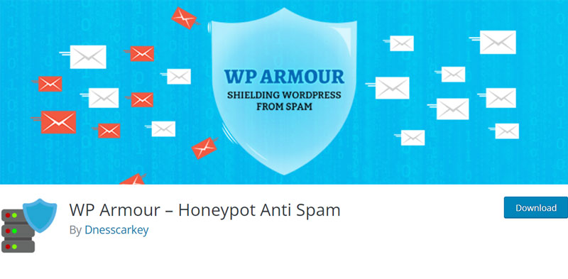 WP Armour plugin's page in the WordPress directory